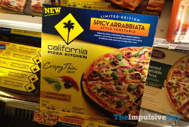 California Pizza Kitchen Limited Edition Spicy Arrabbiata Style Vegetable Crispy Thin Crust Pizza