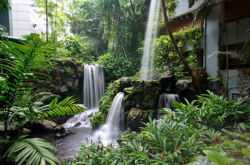 Waterfall at Grand Hyatt Singapore