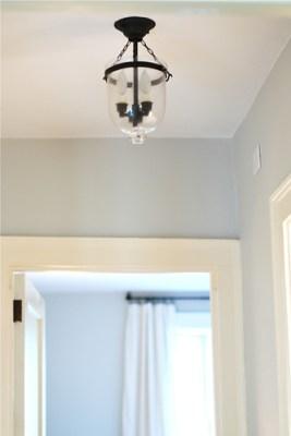 new hall light fixture