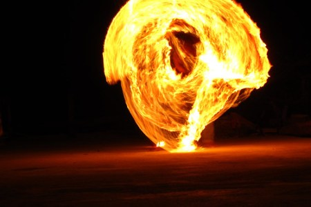 Flame twirl 2