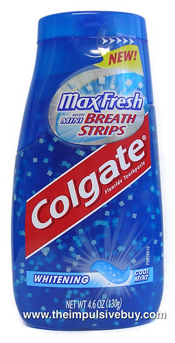 Colgate Max Fresh With Mini Breath Strips Toothpaste