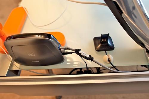 Wireless bridge + FitBit charging cradle/receiver