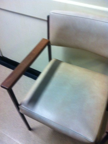 Chair in Addenbrooke's A&E