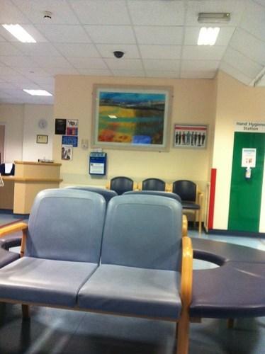Addenbrooke's A&E waiting area