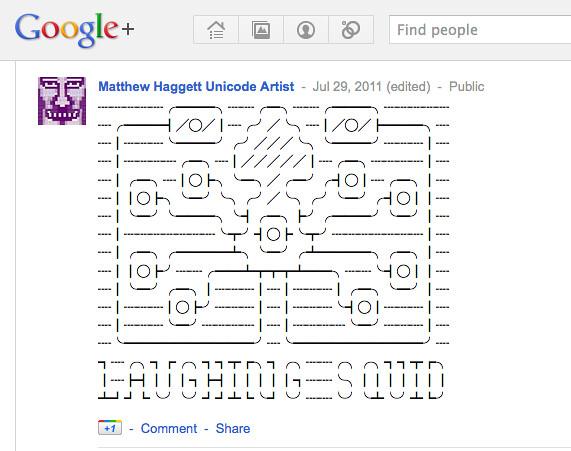 Twitter Art on Google Plus?