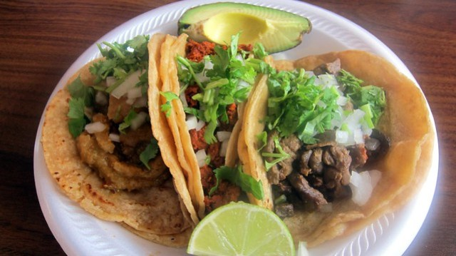 tres tacos at carniceria ramirez