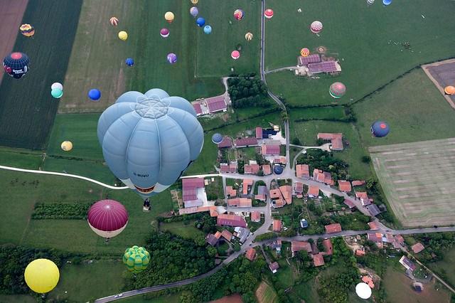 Fly over France, LORRAINE MONDIAL AIR BALLONS, Chambley, France