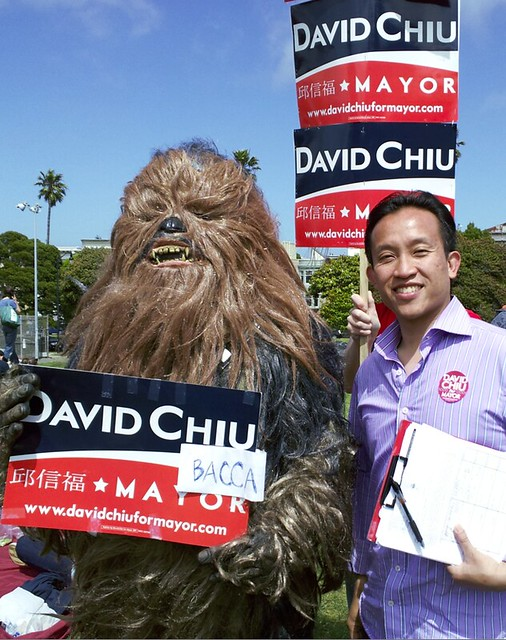 David Chiu and Chiubacca in Dolores Park