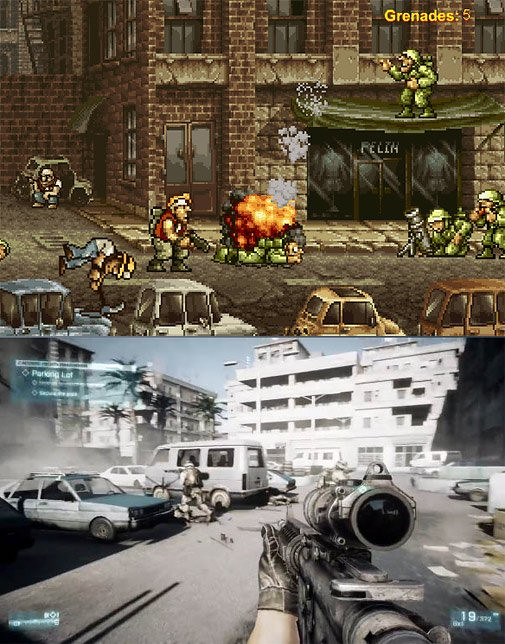Metal Slug vs Battlefield 3