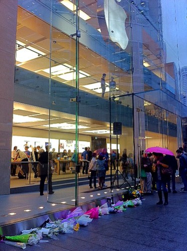 At The Apple Store in Sydney