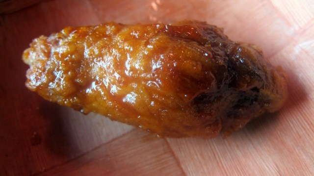 korean fried chicken wing at cafe soho