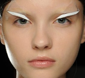 Gareth Pugh White Taped on Eyeliner
