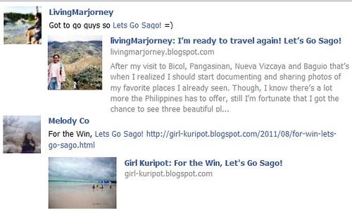 Melody Co (Girl-Kuripot.blogspot.com) & Marjorie Pineda (Llivingmarjorney.blogspot.com)