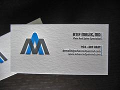 Doctor's Letterpress Business Card