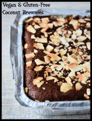 Coconut Brownies-gluten-free & vegan