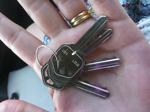 new keys, new house
