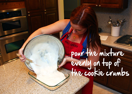 pour the mixture into your dish