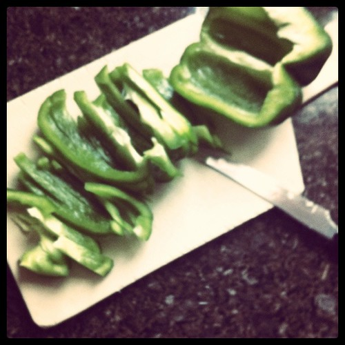 peppers sliced