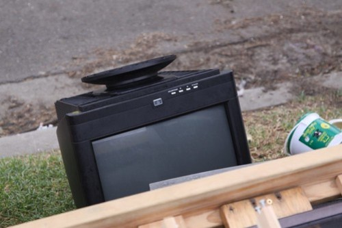 Spotted: not quite a television, but a CRT computer monitor