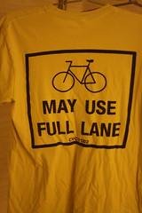 Bikes May Use Full Lane shirt