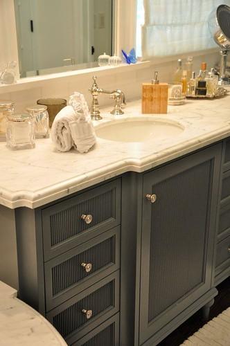 grey bath cabinet vanity Brook Gianetti