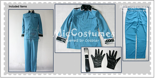 Hetalia Axis Powers Germany Blue Cosplay Costume1