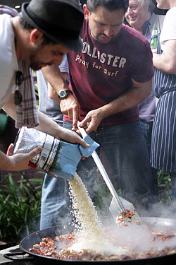making paella John Fink