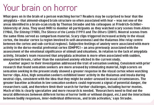 Your Brain on Horror--The Psychologist