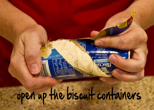 open the biscuits