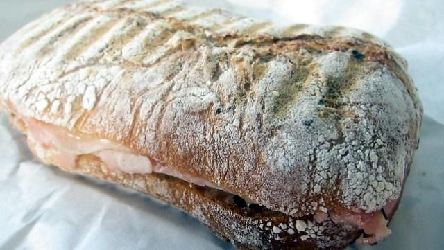 hot porchetta panini at toscano & sons