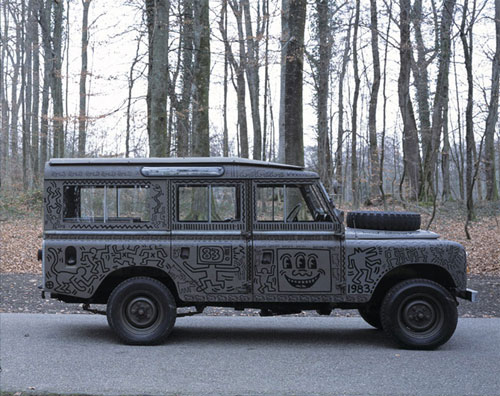 KEITH HARING X LAND ROVER C1983