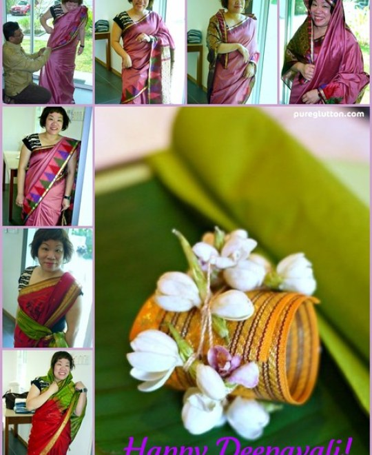 saree collage