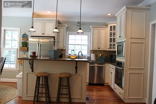 From Yellow To Blue: A Kitchen Transformation - Unskinny Boppy