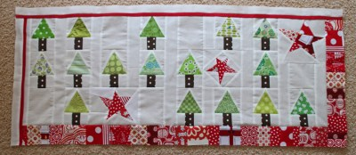 Christmas table runner top pieced...