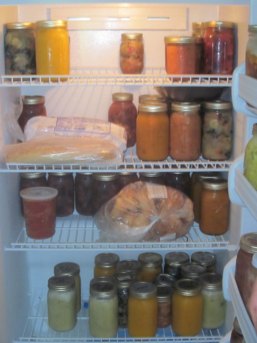 Jan's freezer, from the garden