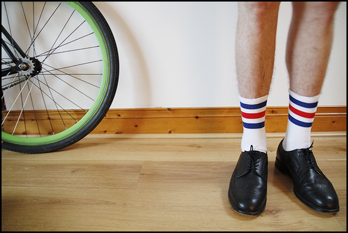 Tuukka13 - Testing - Black Shoes With Striped Socks - Prada, McNairy and Underground Creepers - 2