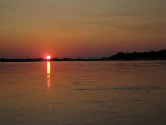 Sunset over the Rufiji River