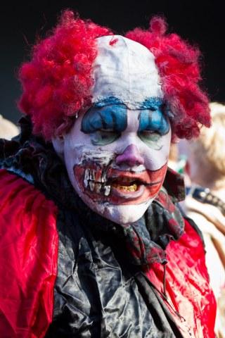 Zombie clown portrait