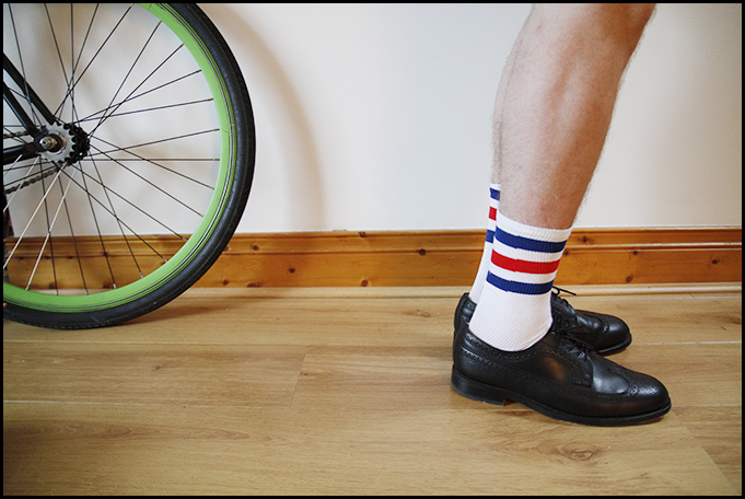 Tuukka13 - Testing - Black Shoes With Striped Socks - Prada, McNairy and Underground Creepers - 3