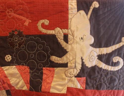 Steampunk Octopus Quilt Key Version