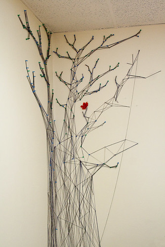 A tree made from string