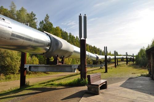 Alaska Pipeline, Steese Hwy., North of Fairbanks, Alaska