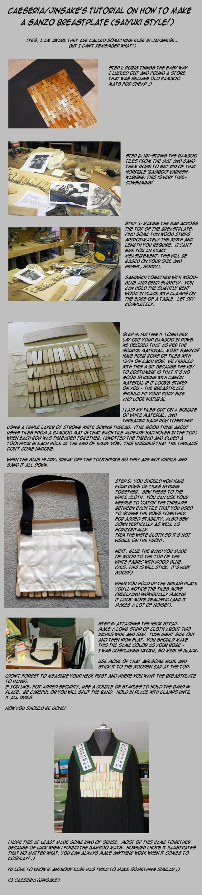 How to Make a Sanzo Breastplate for Saiyuki Cosplay