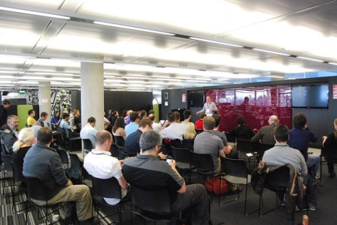 A packed out Code Lab session