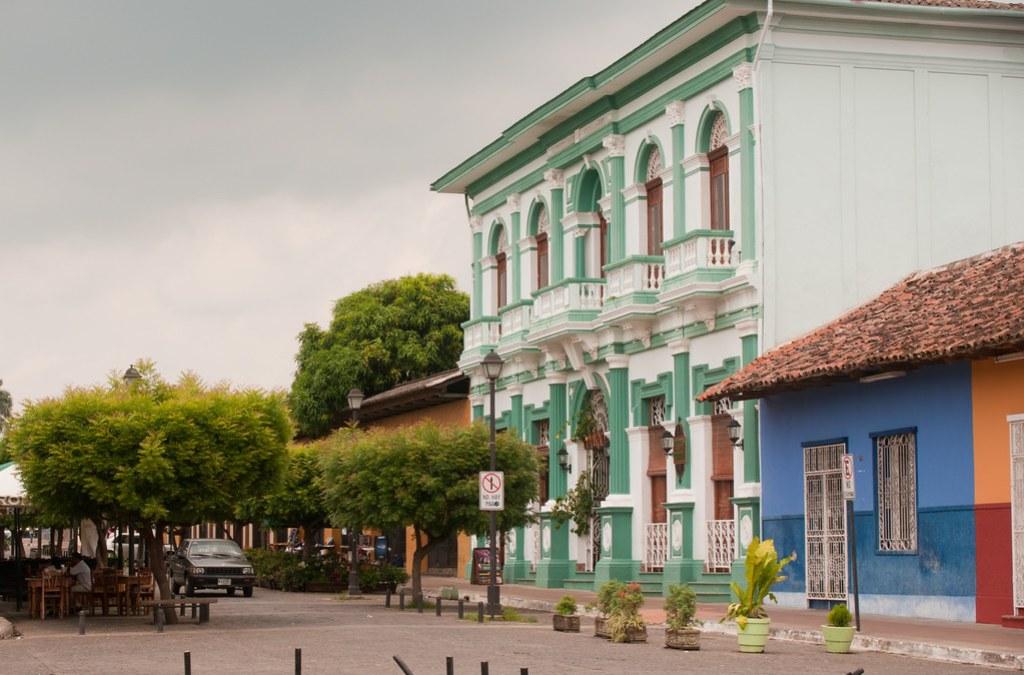 colorful buildings in granada