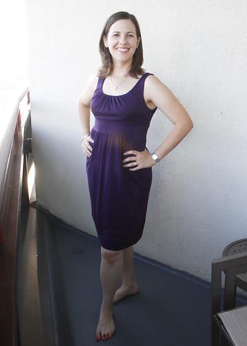 Katie has good posture!