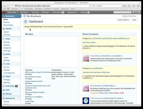 Dashboard ‹ The Woodwork — WordPress