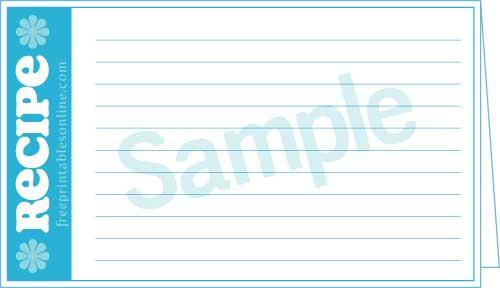 free 3x5 recipe card template - double recipe cards