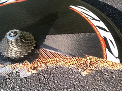 Inside of a Zipp, honeycombs.