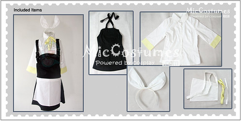 Vocaloid human sacrifice rin cosplay costume